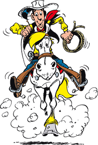 Lucky Luke reitet auf Jolly Jumper © Lucky Luke