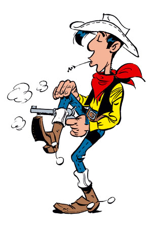 Lucky Luke schießt © Lucky Comics